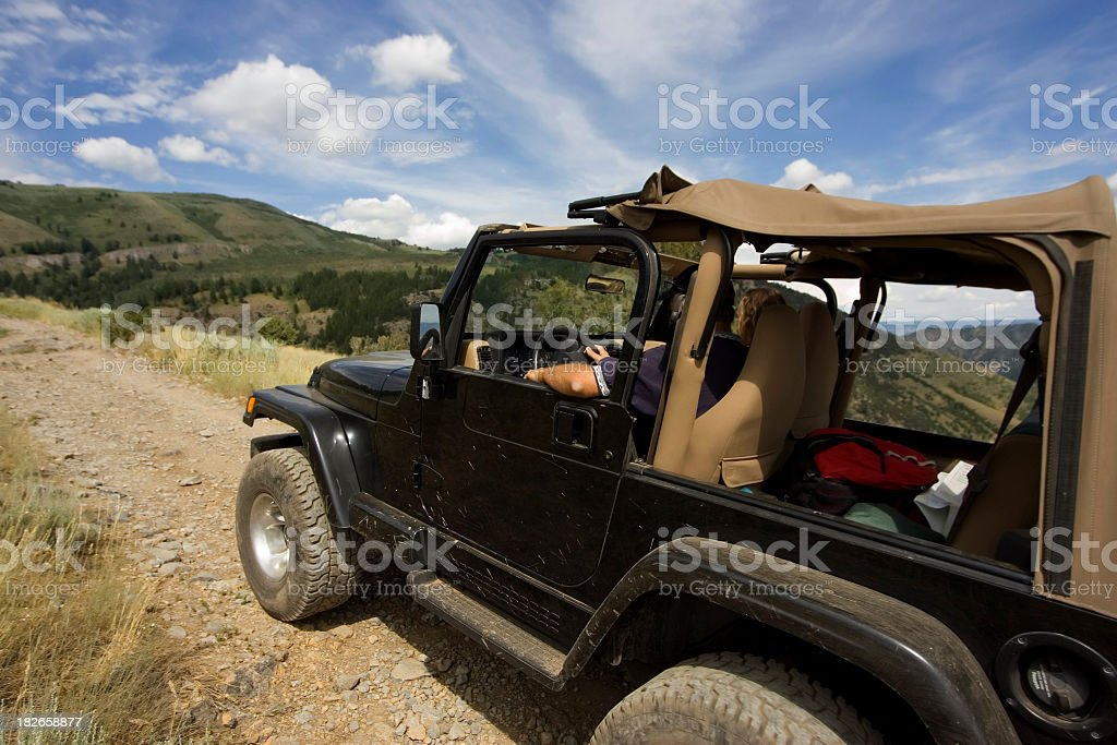 Jeeping into Distance royalty-free stock photo