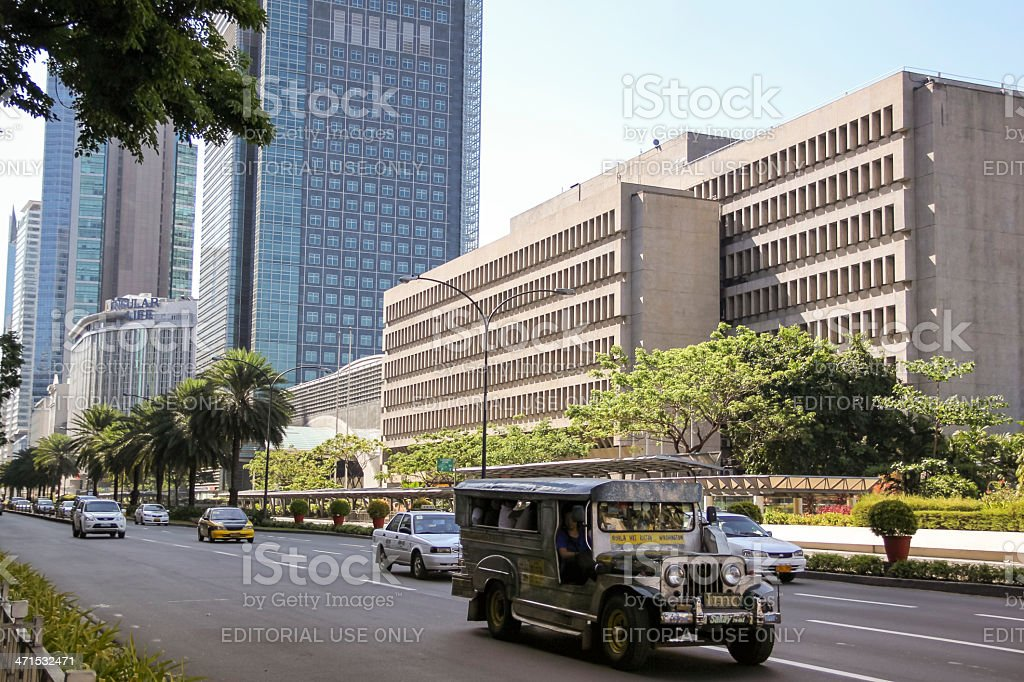 jeepney ayala avenue metro manila philippines royalty-free stock photo