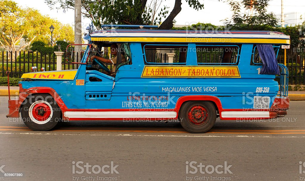 jeepney colorist-cebu stock photo