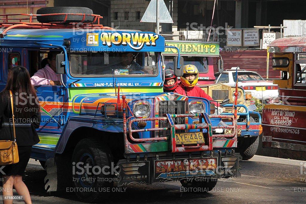 Jeepney in Baguio, Filippine foto stock royalty-free