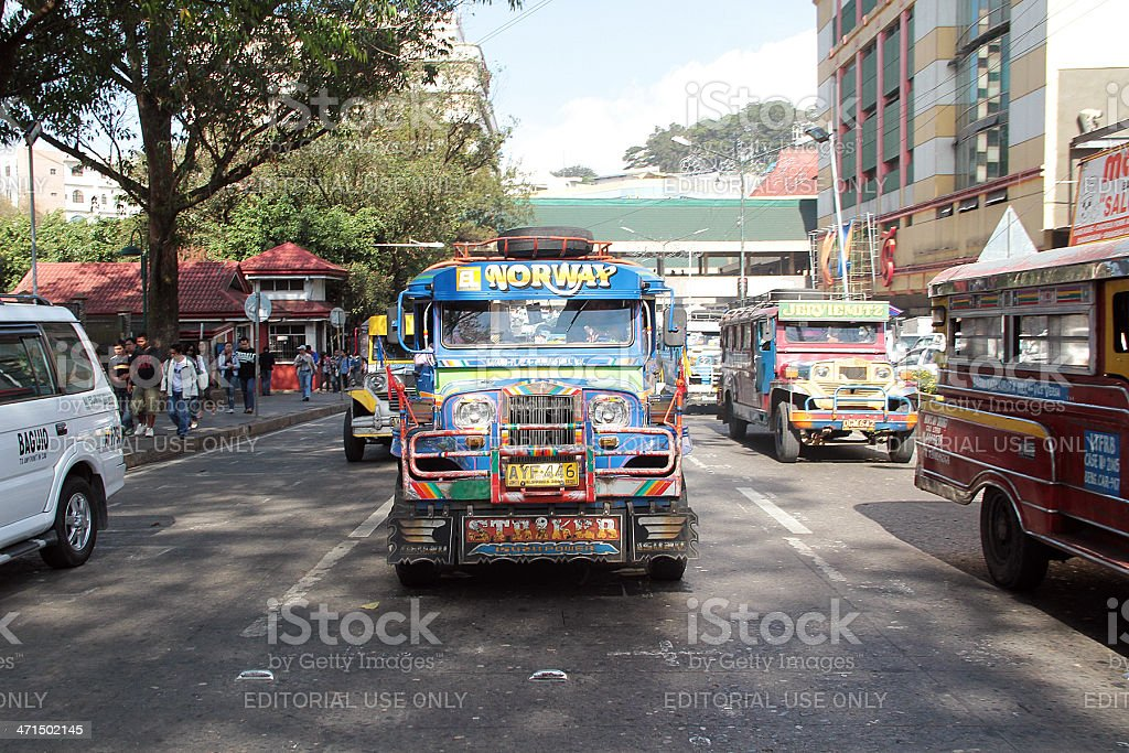 Jeepney in Baguio, Filippine foto stock royalty-free