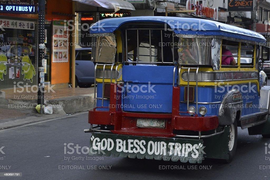 Jeepney in Manila, Philippines stock photo