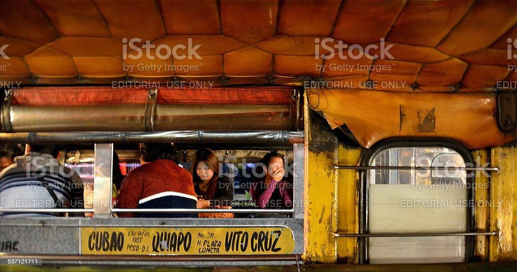 Jeepney transport in Manila, Philippines stock photo