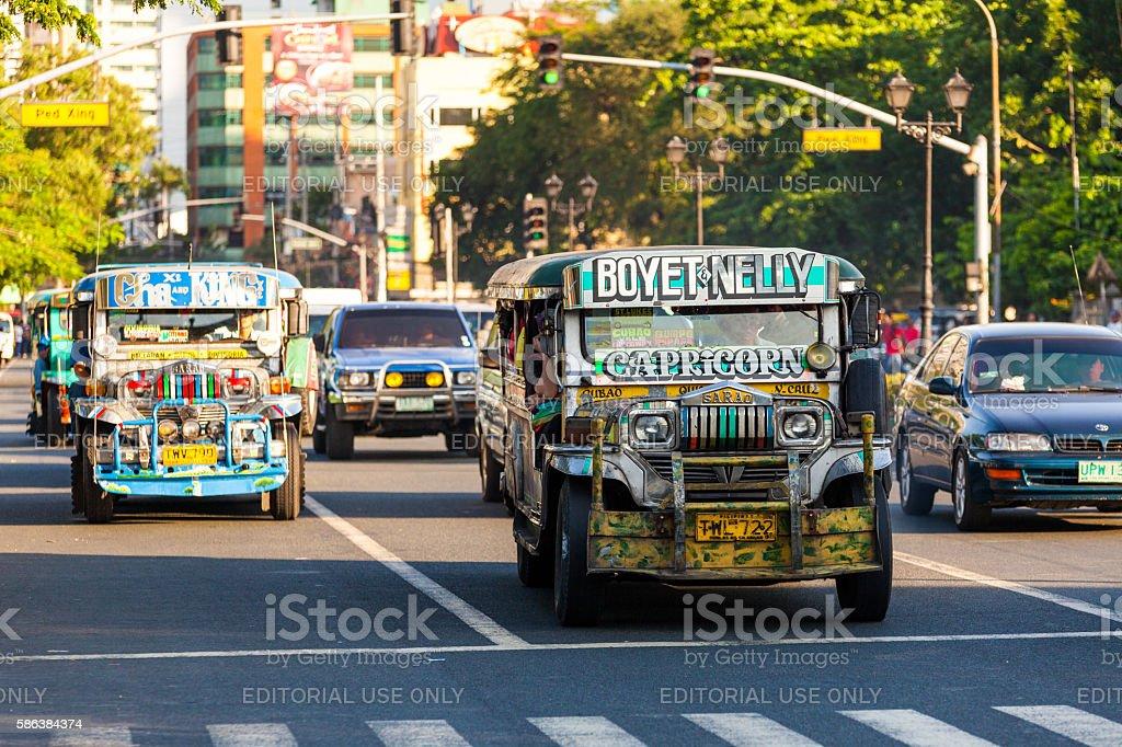 Jeepneys in Ermita stock photo