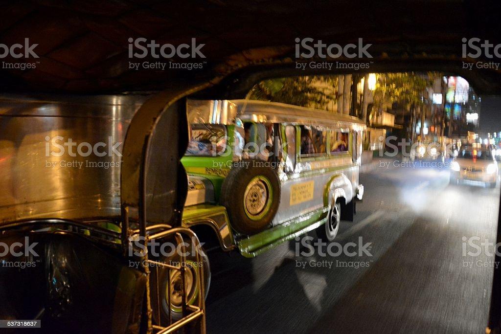 Jeepneys in Manila, Philippines stock photo