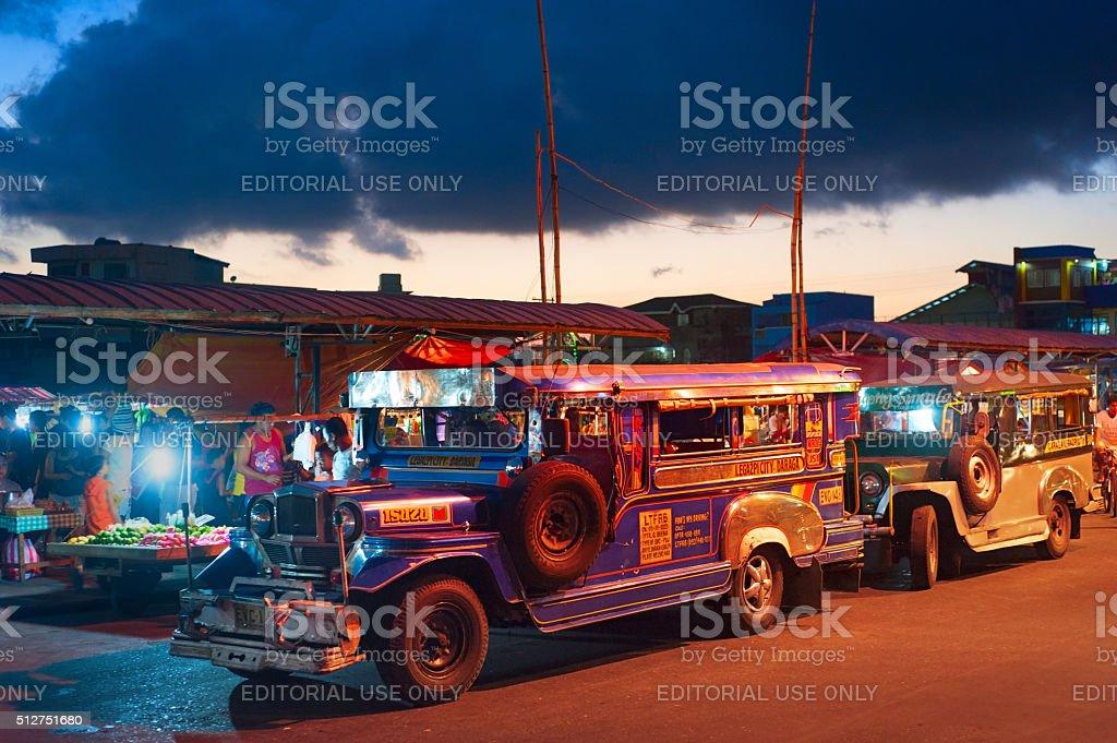 Jeepneys, Philippines public transport stock photo