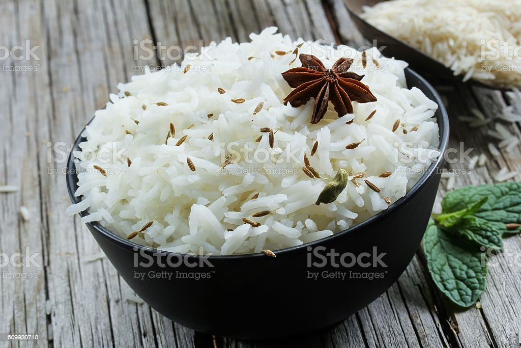 Jeera Rice / Cumin Rice stock photo