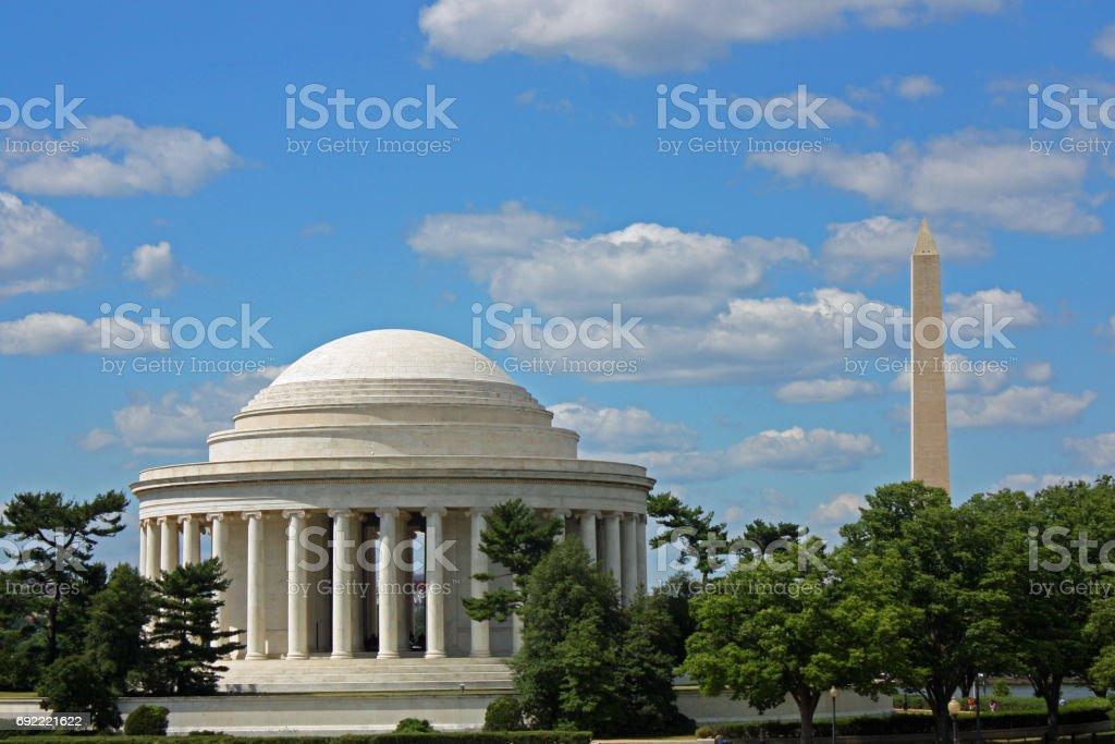 Jefferson and Washington stock photo