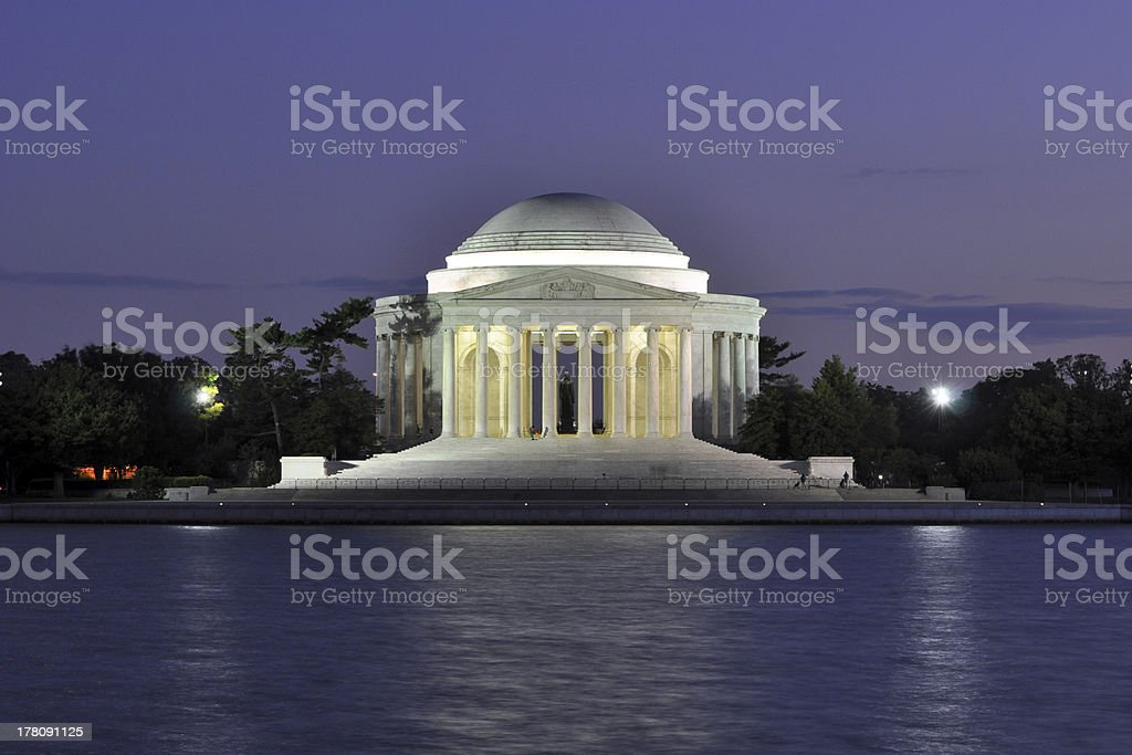 Jefferson Memorial at Dusk stock photo