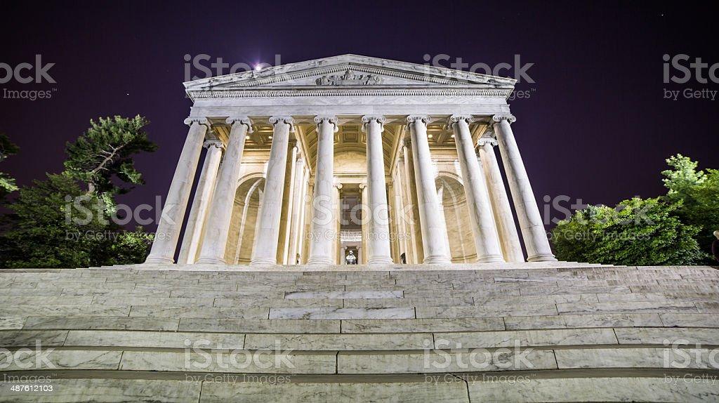 Jefferson Memorial At Night stock photo