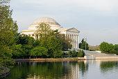 Jefferson memorial at Tidal Basin Washington DC