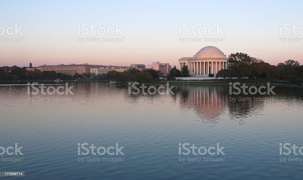 Jefferson Memorial at Tidal Basin, Washington DC, USA stock photo