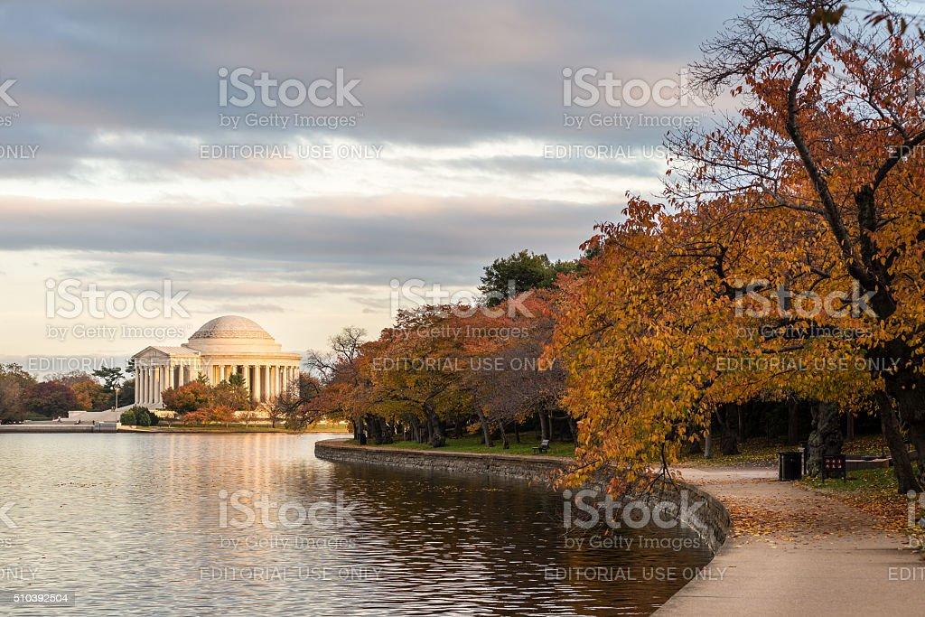 Jefferson Memorial - Autumn 2 stock photo