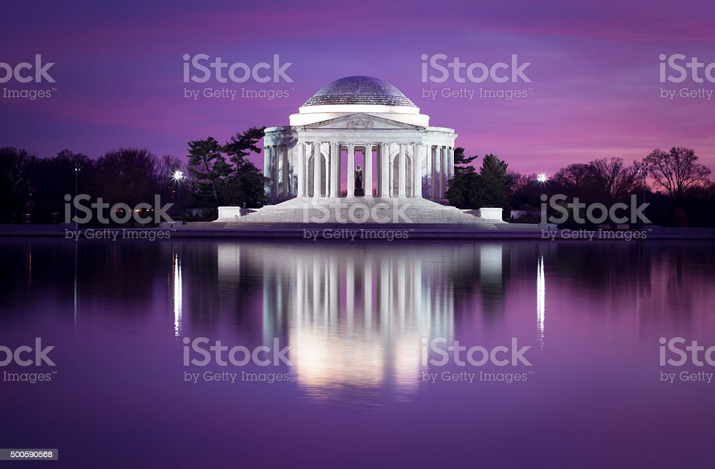 Jefferson memorial, DC stock photo