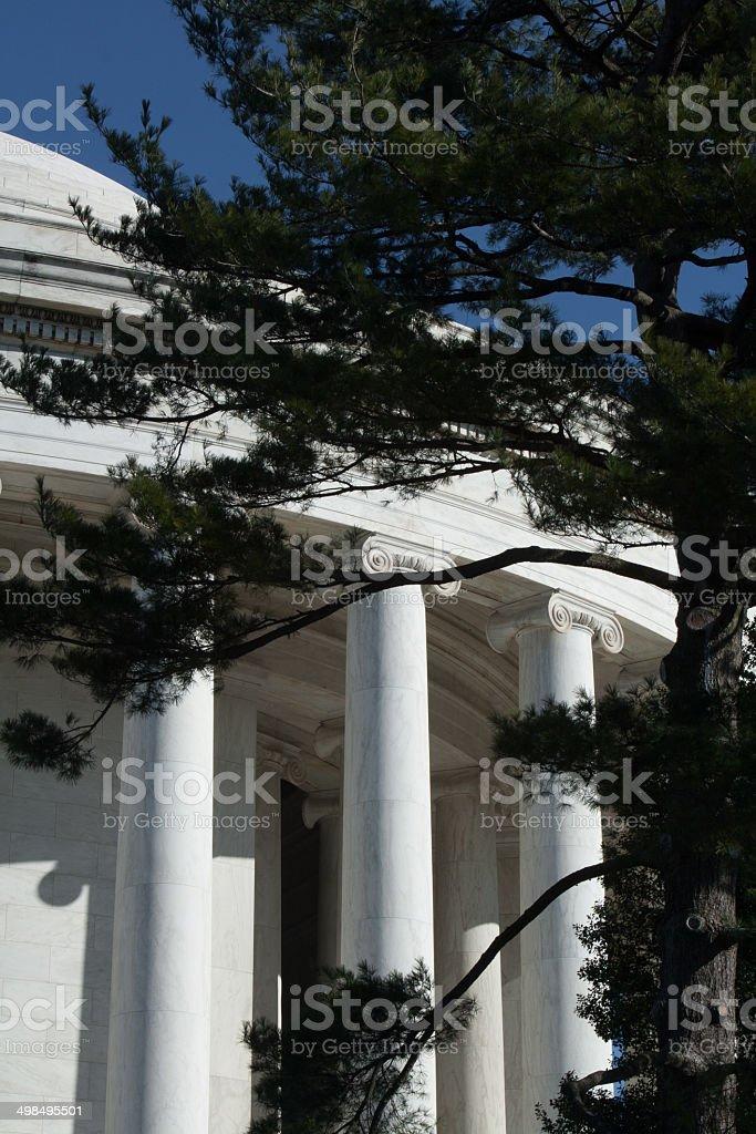 Jefferson Memorial -detail stock photo