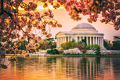 Jefferson Memorial in DC During spring