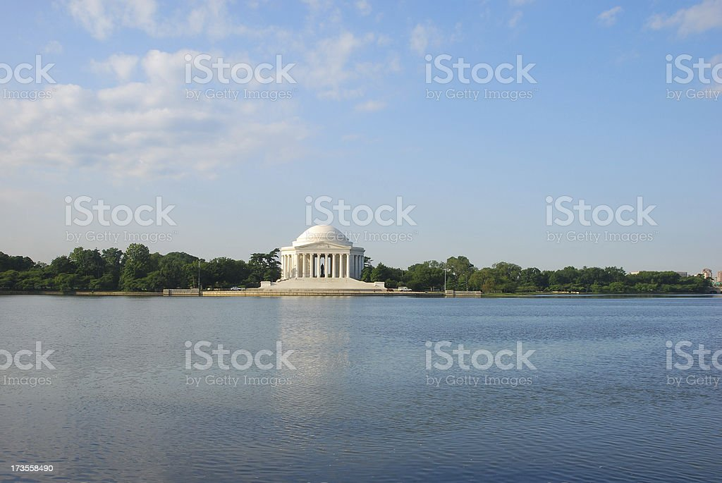 Jefferson Memorial in reflection stock photo