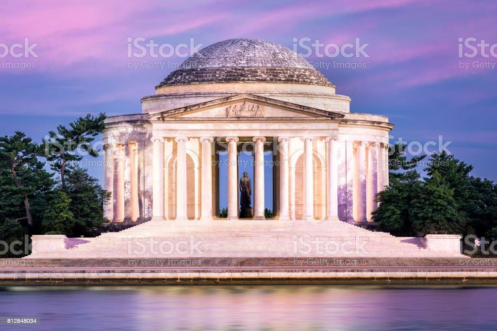Jefferson Memorial in Washington DC. stock photo