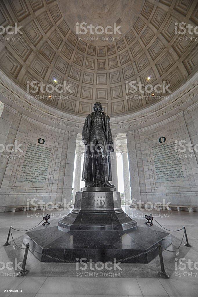 Jefferson Memorial Interior stock photo