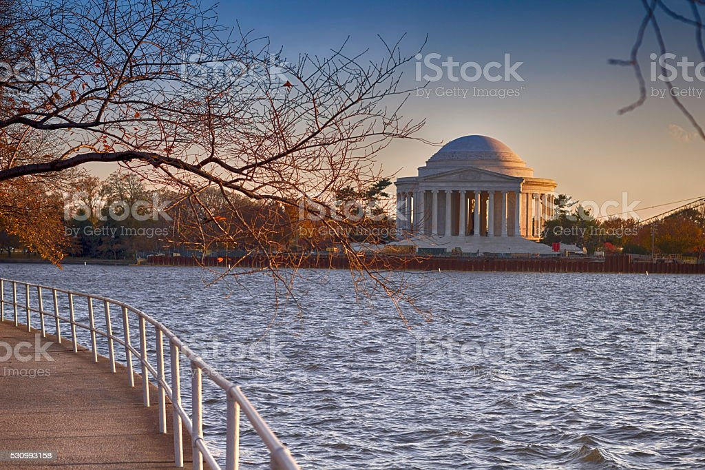 Jefferson Memorial stock photo