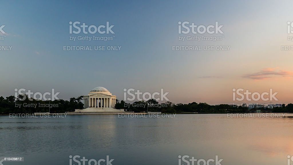 Jefferson Memorial Sunset