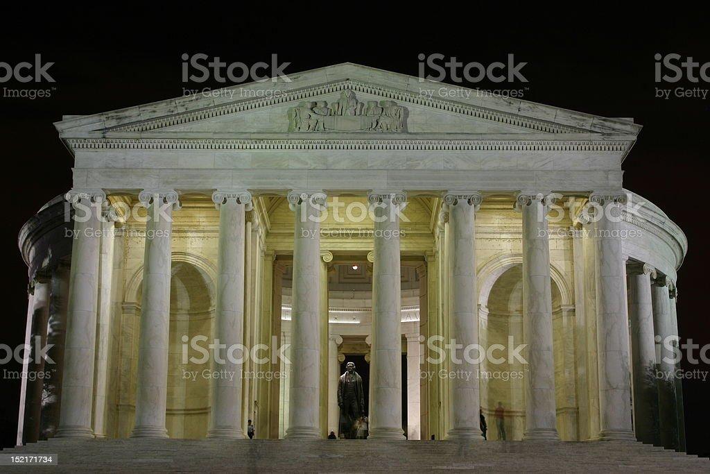 Jefferson Memorial, Washington DC at night stock photo