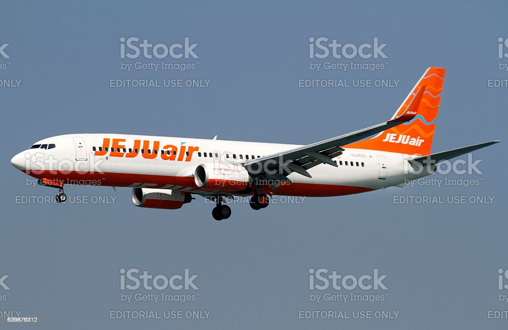 Jeju Airlines Boeing 737 stock photo
