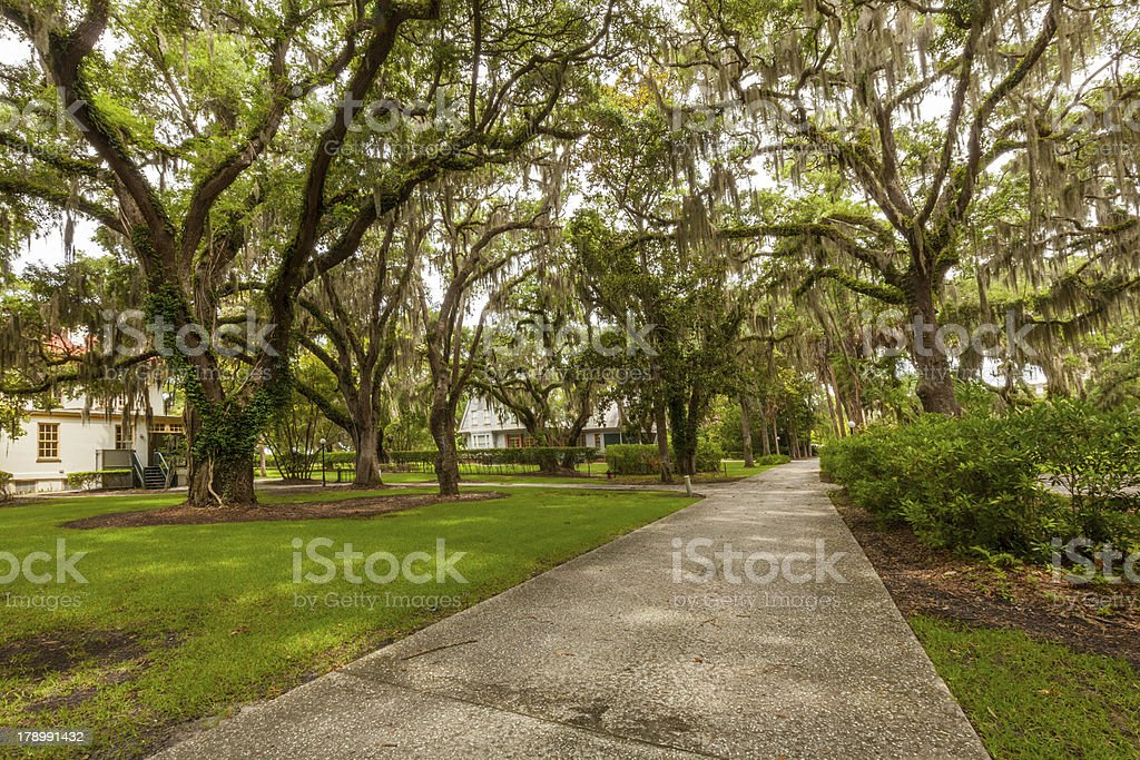 Jekyll Historic Distric Path royalty-free stock photo