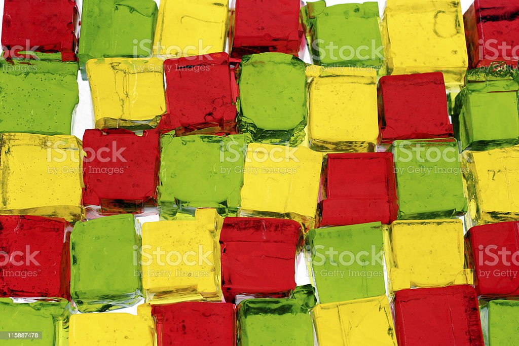 jello cubes stock photo