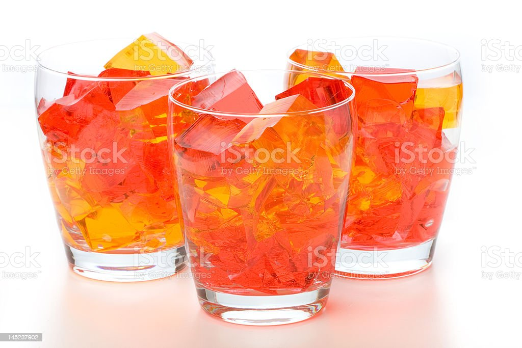 Jello In Glassed stock photo