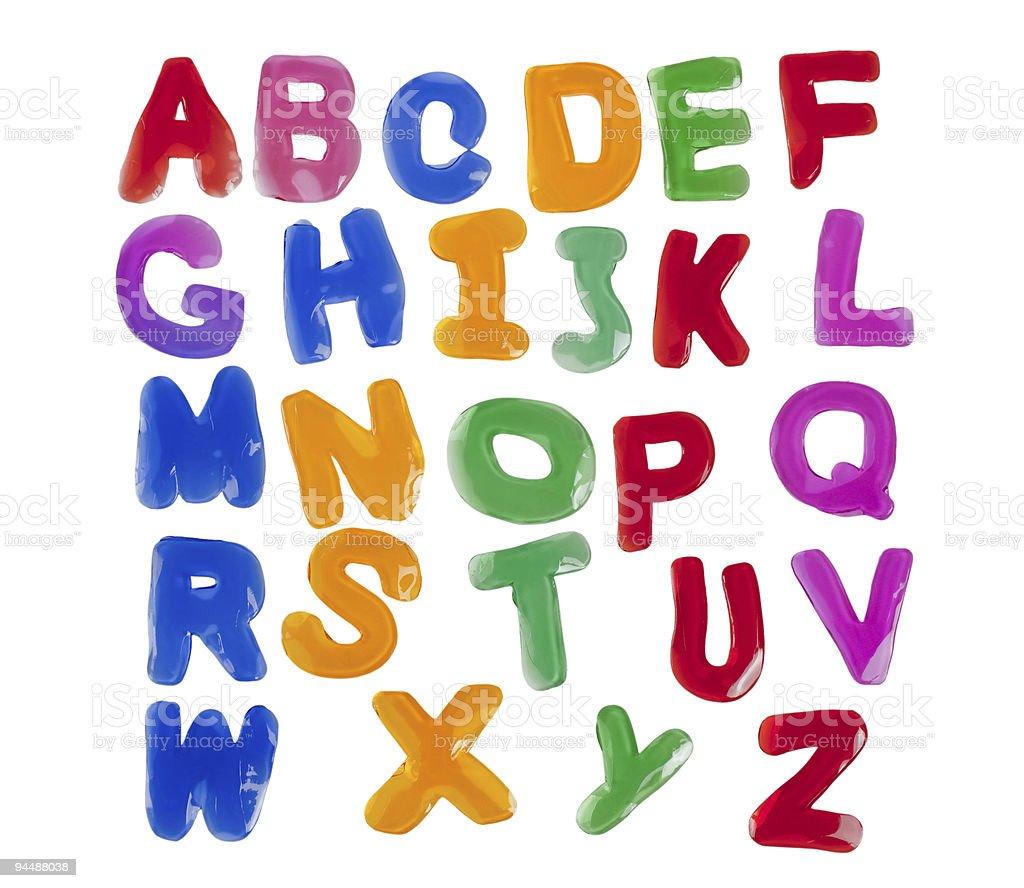 Jelly alphabets stock photo