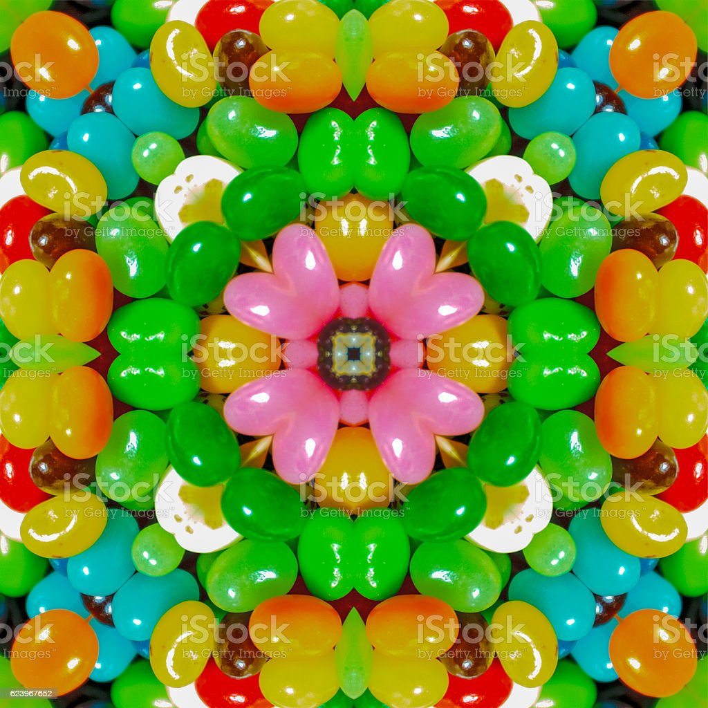 Jelly Bean Mandala stock photo