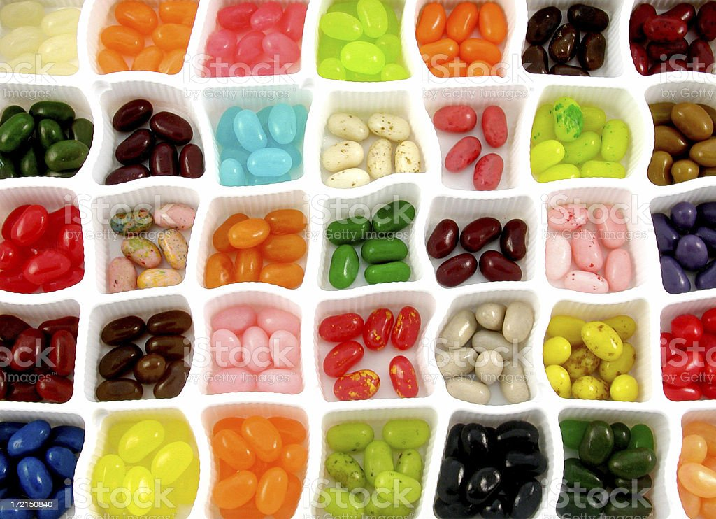 jelly bean sampler royalty-free stock photo