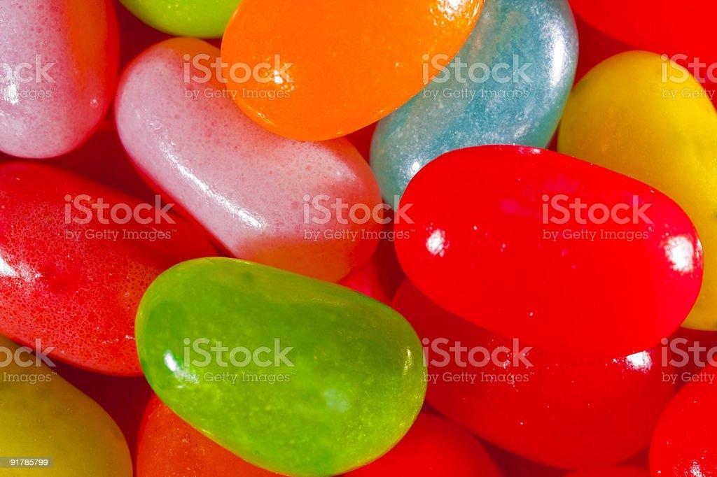 Jelly Beans, Nahaufnahme (mehrfarbig Lizenzfreies stock-foto