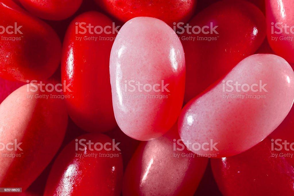 Jelly Beans, Nahaufnahme (Rot und Rosa Lizenzfreies stock-foto