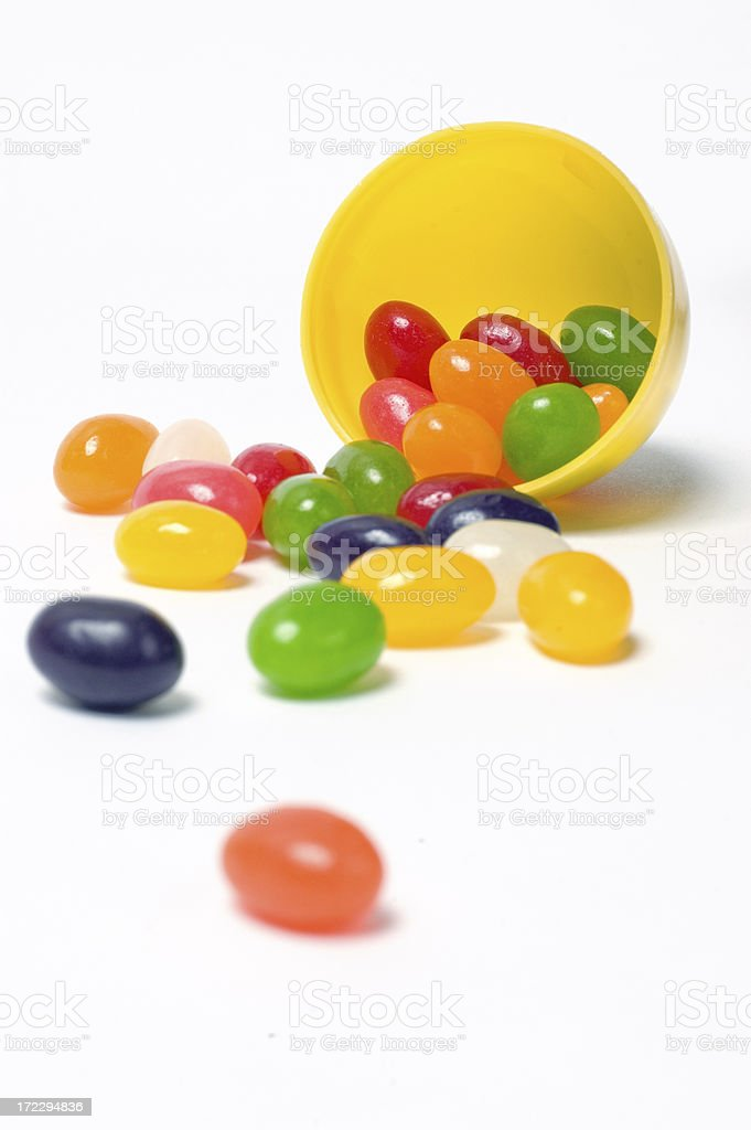 Jelly Beans in a Plastic Egg royalty-free stock photo