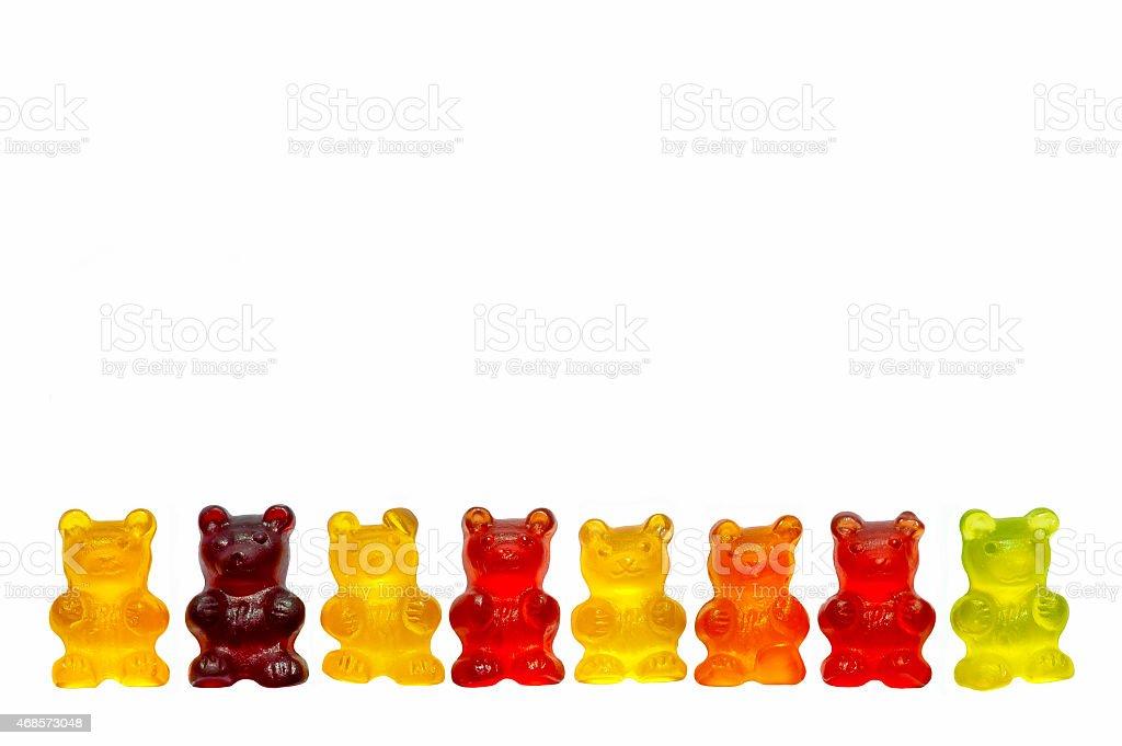 Jelly Bears, selection of gummy bears stock photo