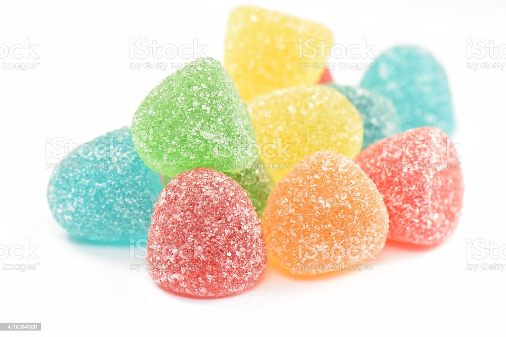 Jelly candies in sugar. stock photo