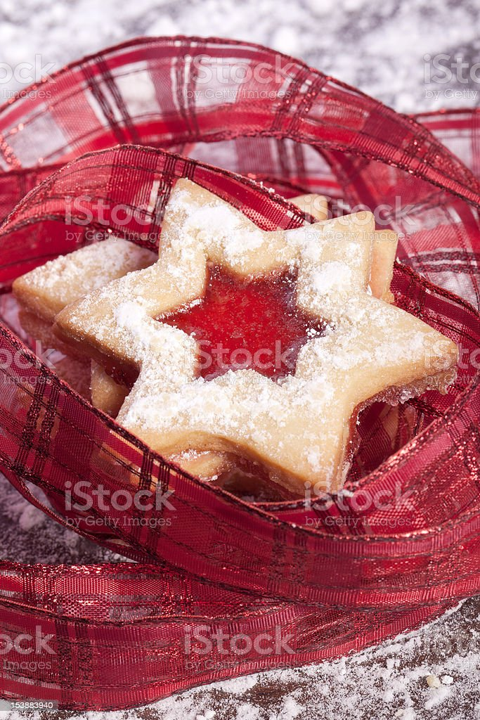 Jelly cookies star royalty-free stock photo