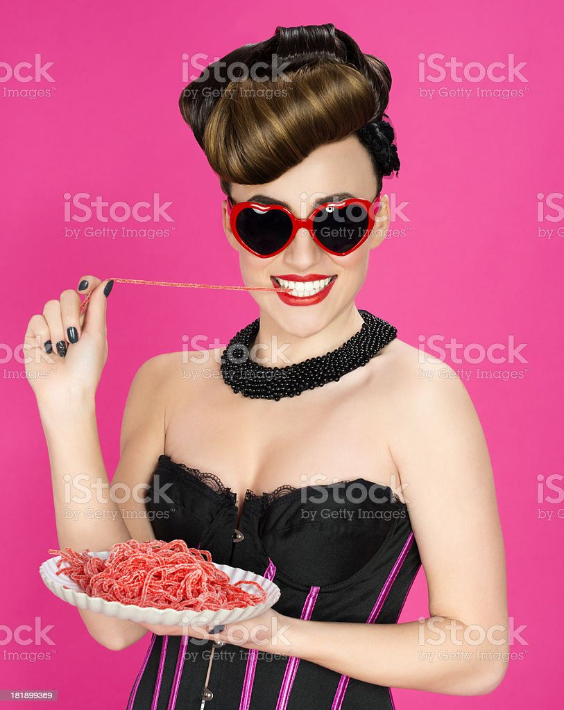 jelly eating royalty-free stock photo