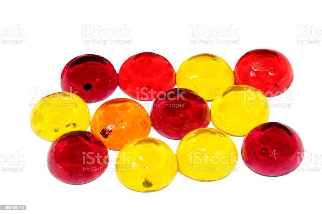 Jelly on white background 001 stock photo