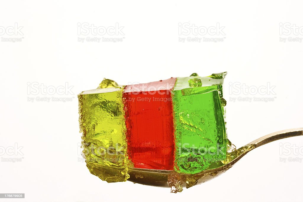 jelly tricolor stock photo