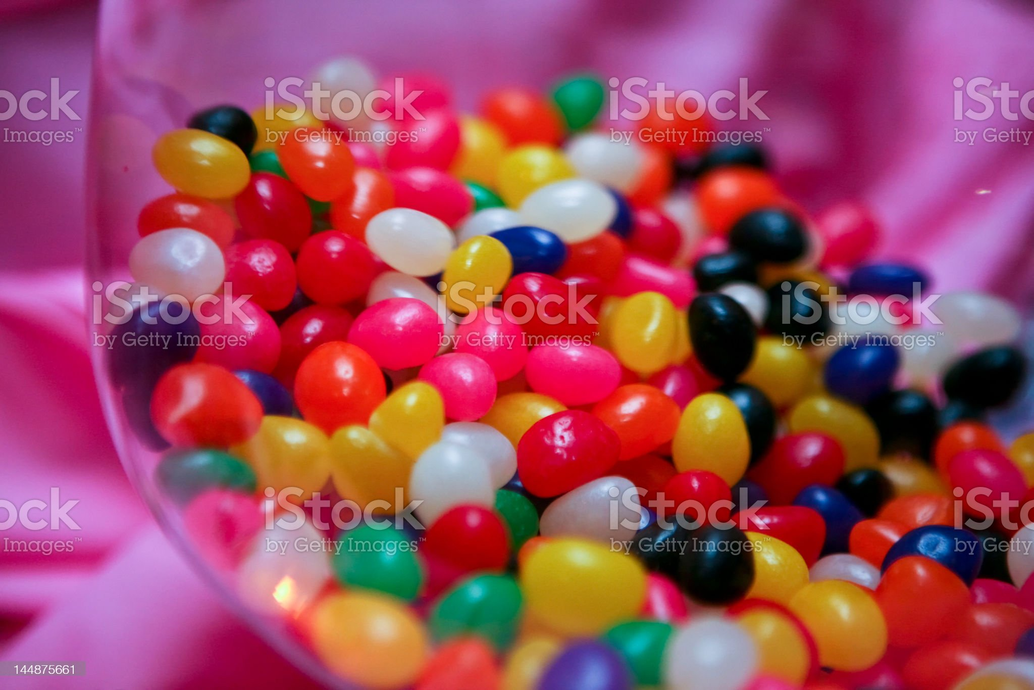 Jellybeans & Pink royalty-free stock photo