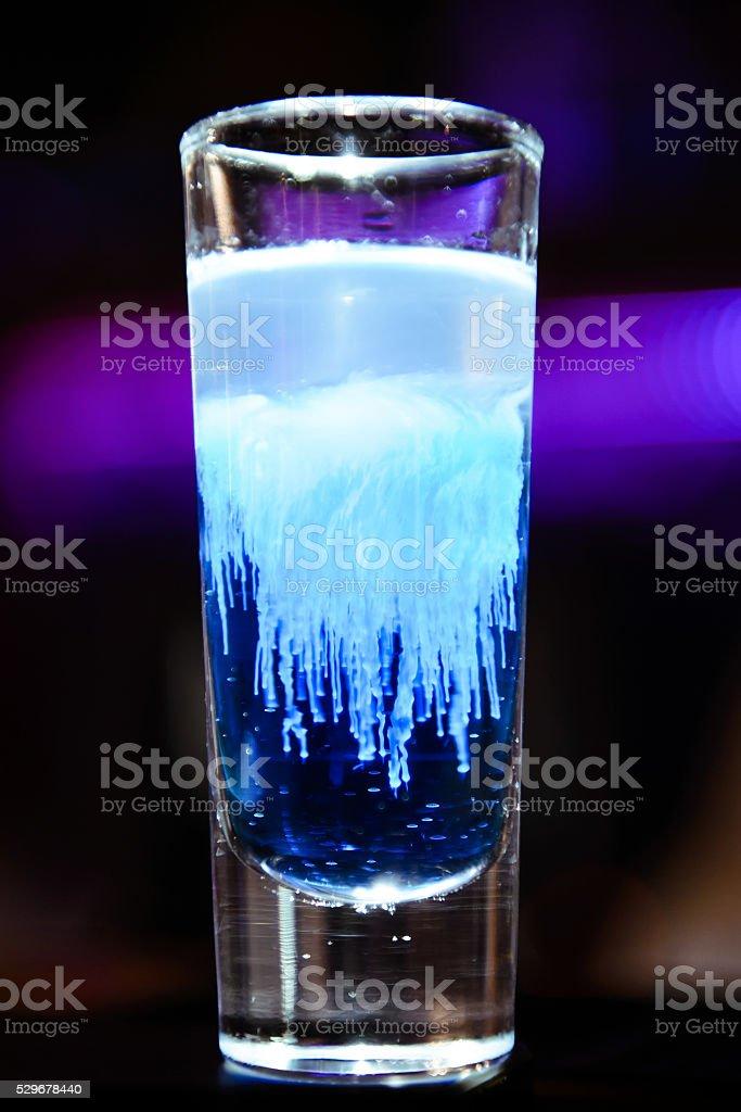 Jellyfish cocktail stock photo
