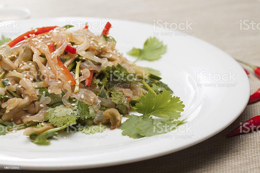 jellyfish salad royalty-free stock photo