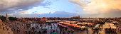Jemaa el-Fnaa panoramic view, Marrakesh, Morocco (98 MPix)
