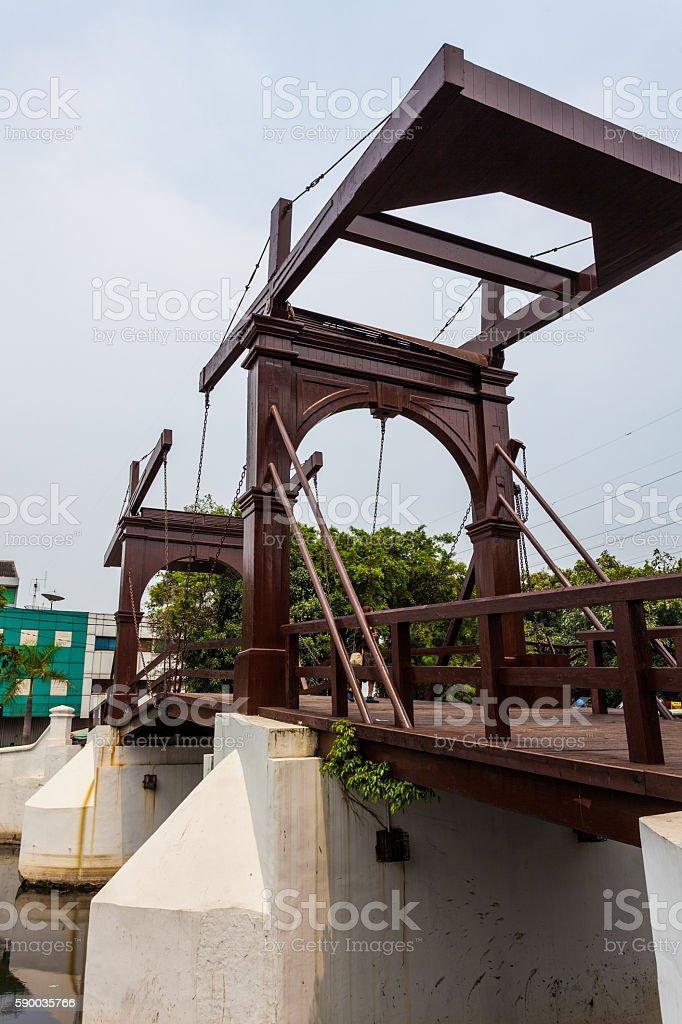Jembatan Kota Intan stock photo