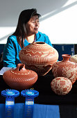 Jemez Pueblo Potter at 2014 Santa Fe Indian Market