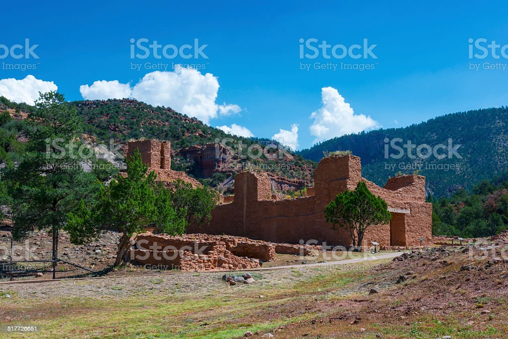 Jemez State Monument stock photo