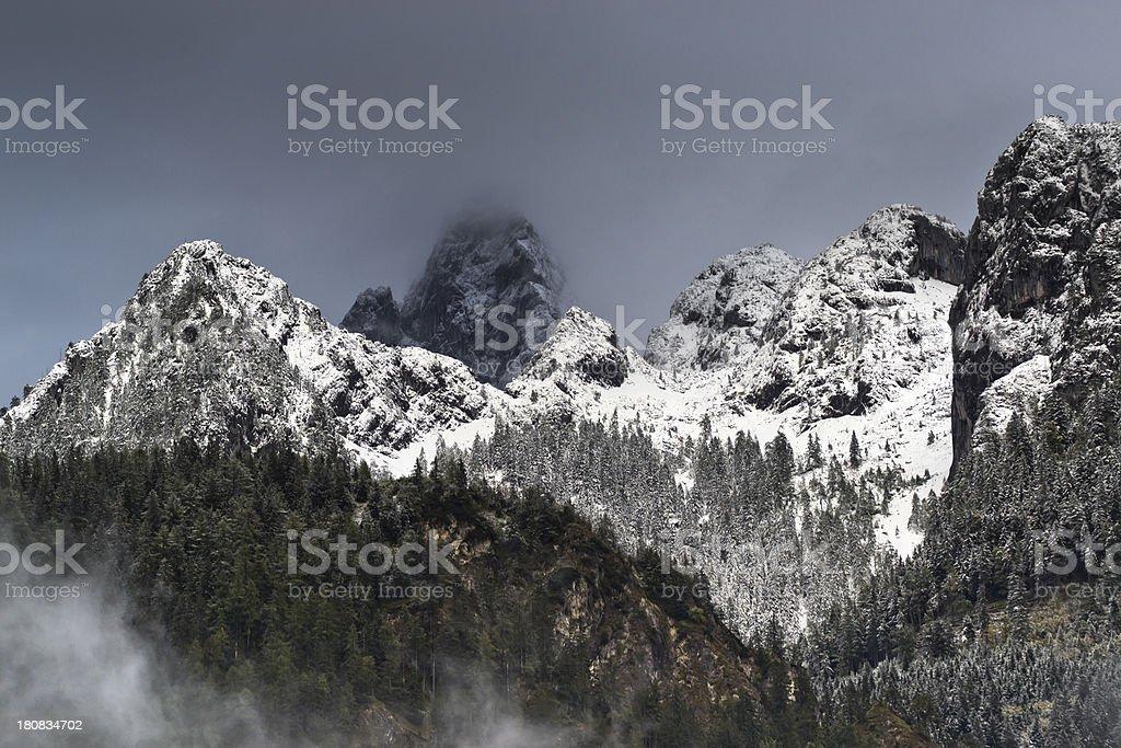 Jenner mountain range Bavaria stock photo